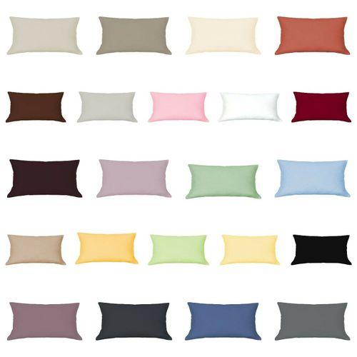 Mako Satin Kissenbezug 60 x 60 cm Reißverschluss Hotelverschluss 100/%Baumwolle