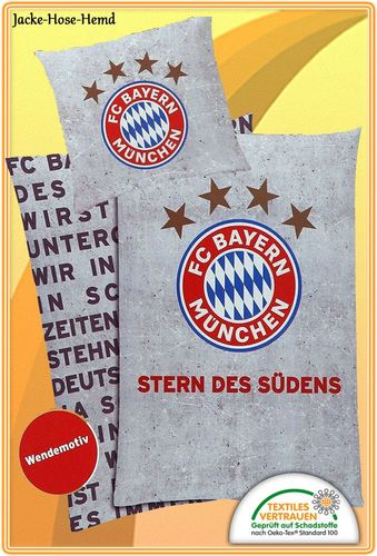 FC Bayern Bettw/äsche Stern des S/üdens 135 x 200 cm