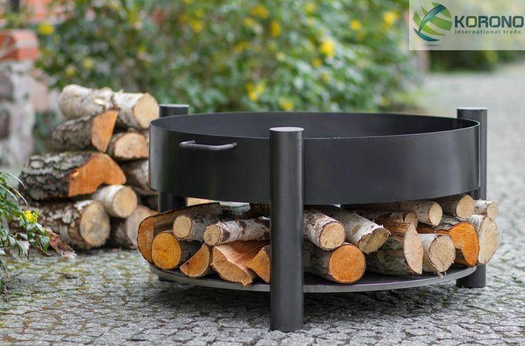 Höhe 31 cm Feuerkorb Grillfeuer Feuerstelle Feuerschale aus Stahl Ø 100 cm