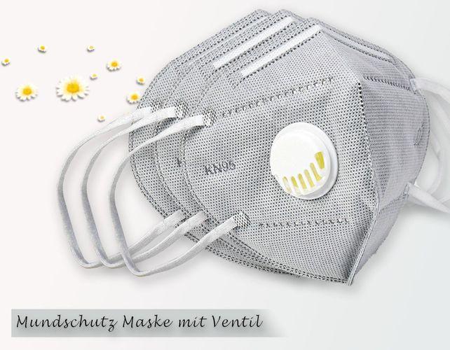 Mundschutz Maske N95 FFP2 mit Ventil - Aktivkohlefilter ...