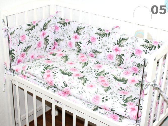 BABY SET mit Bettwäsche für  Beistellbett 40x90cm Nestchen Spannbettlaken 6 TLG
