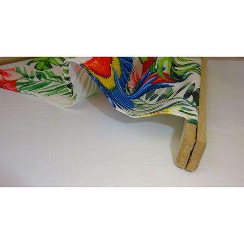 Wanddeko Tropic Papagei 2 Wandbild Deko Wand Bild Leinwand mit Holz Leisten bunt