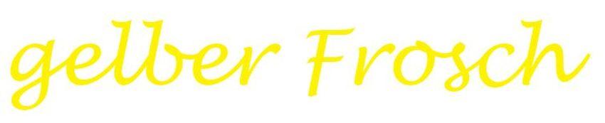 Gelber Frosch