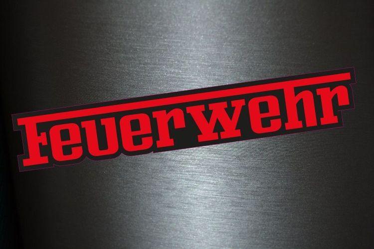 1 X Aufkleber Feuerwehr Spruch Ferrari Font Schrift Sticker Autoaufkleber Decal Kaufen Bei Hood De