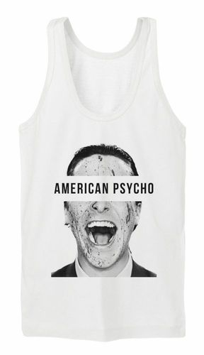 American Psycho Tanktop Girls White Killer Bateman Patrick Murder Mörder Axt Gun