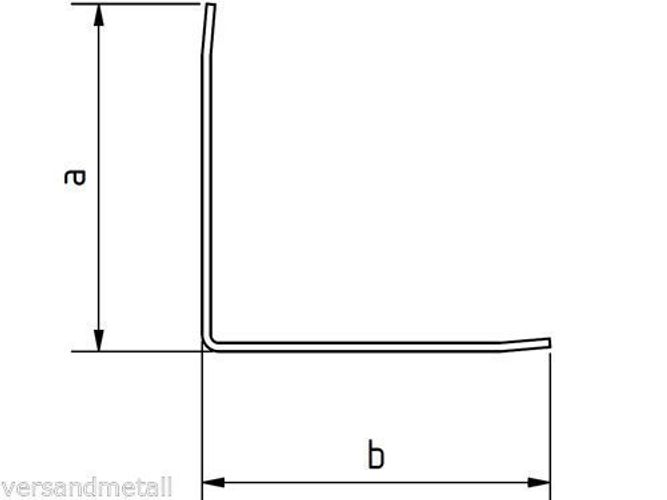 Edelstahl Kantenschutz Eckschiene 2000 oder 2500mm 40x10mm 3-fach gekantet K320.
