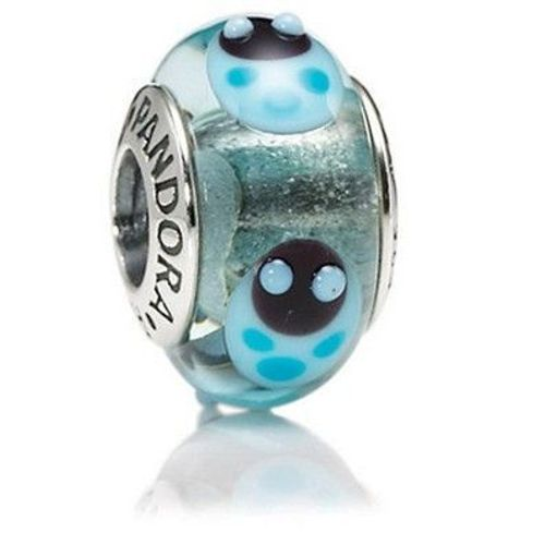 Pandora Marienkäfer Blau, Charm aus Murano-Glas 79654