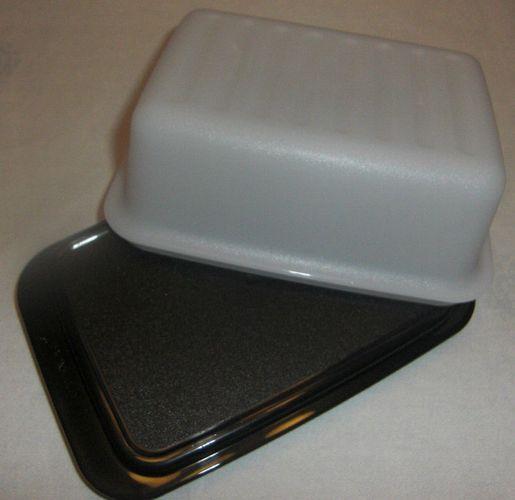 Tupperware Butterdose schwarz//weiß Butterschatz NEU