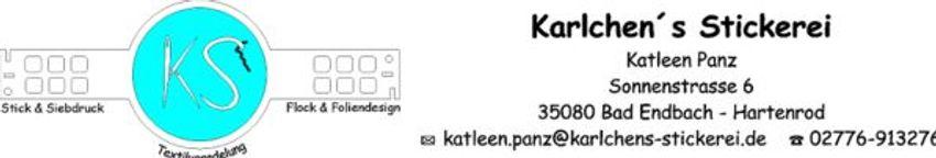 Karlchens Stickerei