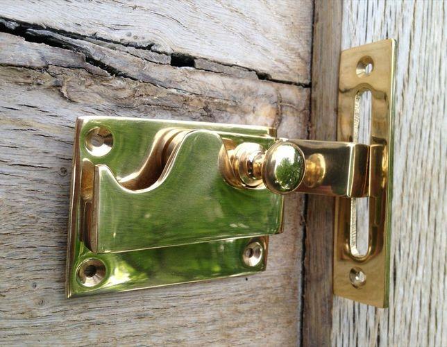 Toilettentür verschluss WC-Tür Riegel Messing Schliesser Besetzt u Frei