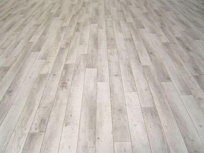 PVC Bodenbelag Holz-Optik Planken weiß/ grau 400 cm Breite pro qm = 9,95 €