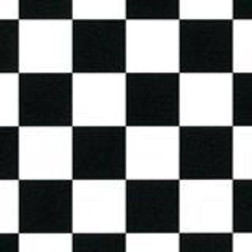 PVC Bodenbelag Schachbrett schwarz-weiß  400 cm Breite 9,95 € pro Quadratmeter