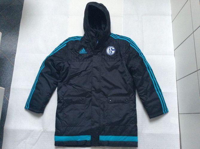 S04 FC Schalke 04 Adidas Stadion Jacke Gr. S L neu!!