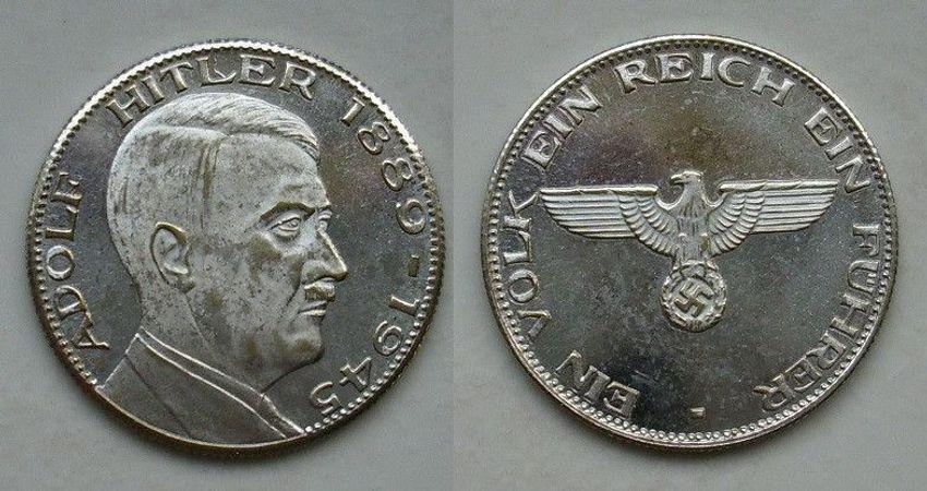 Adolf Hitler Medaille 1889 1945 Schön Rare L349 Kaufen Bei Hood De
