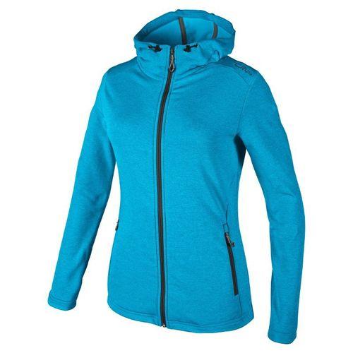 CMP Damen Stretch Fleece Jacke mit Kapuze Gr. 36 38 40 42 44 46 blau Fleecejacke