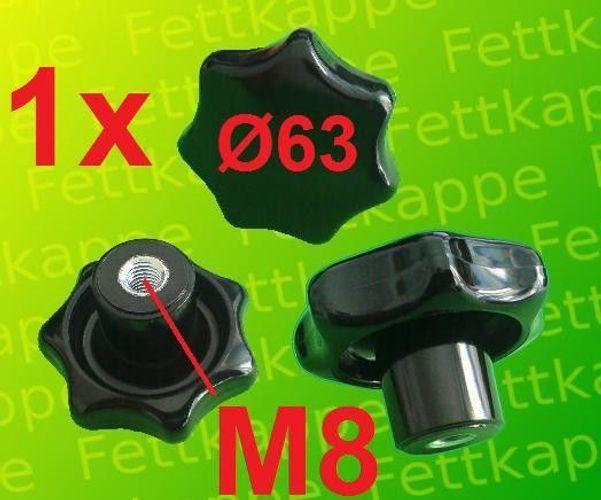 25 x Sterngriffmutter M8 Griff Ø 50mm DIN6336 Sternmutter Feststellmutter
